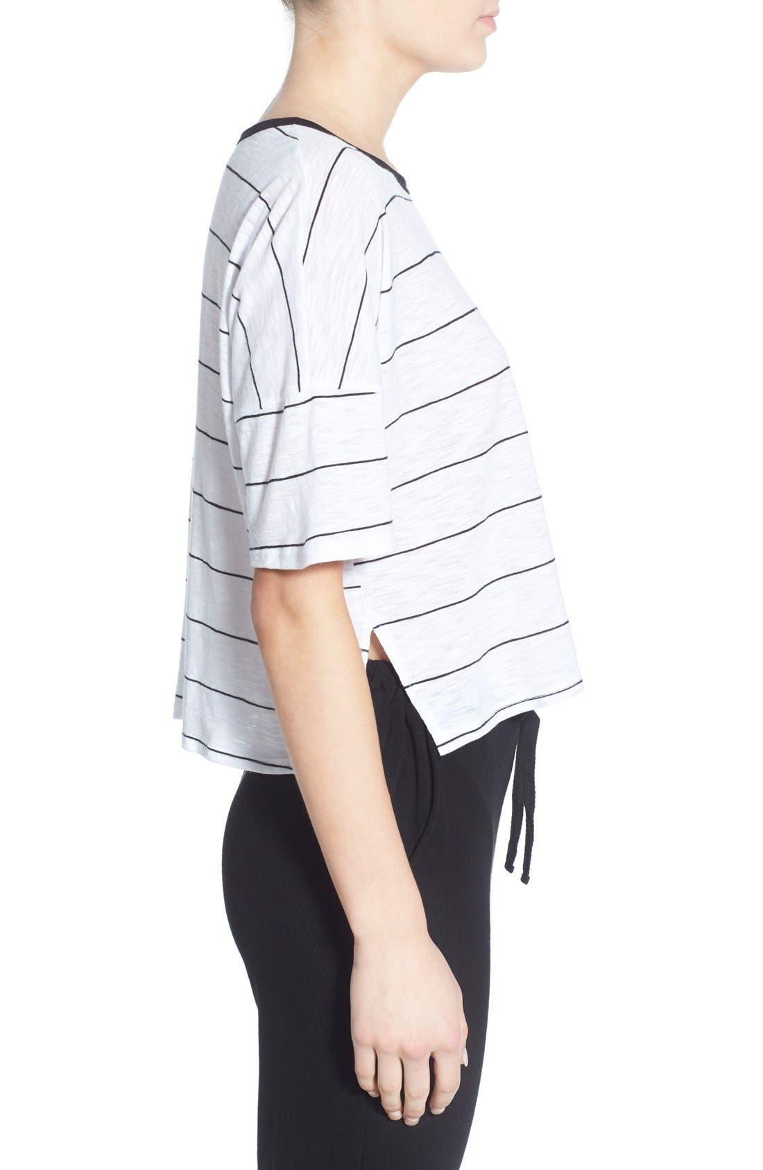 Alternate Image 3  - Michelle by Comune Stripe Crop Tee