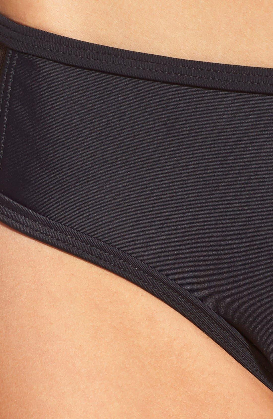 Mesh Bikini Bottoms,                             Alternate thumbnail 6, color,                             Black