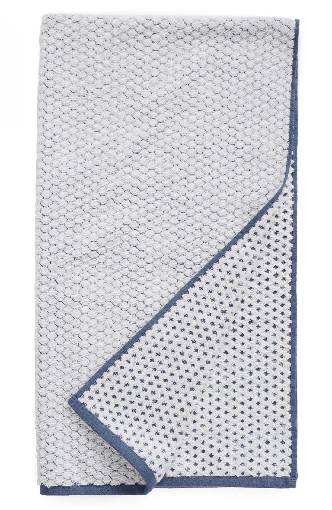 Cobble Bath Towel,                             Main thumbnail 1, color,                             Blue Vintage