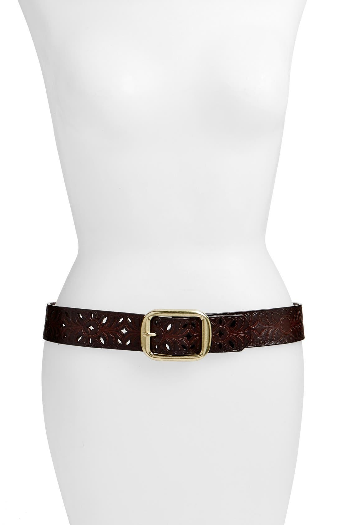 ELISE M. 'Cantina' Leather Hip Belt in Capp