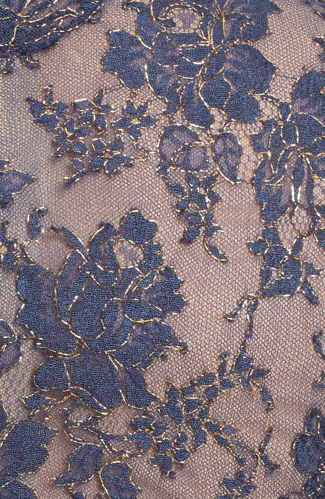 Alternate Image 3  - Reem Acra V-Neck Lace & Silk Crepe Trumpet Gown
