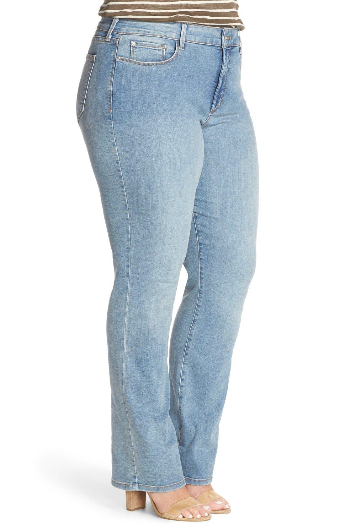 Alternate Image 3  - NYDJ 'Billie' Stretch Mini Bootcut Jeans (Plus Size)