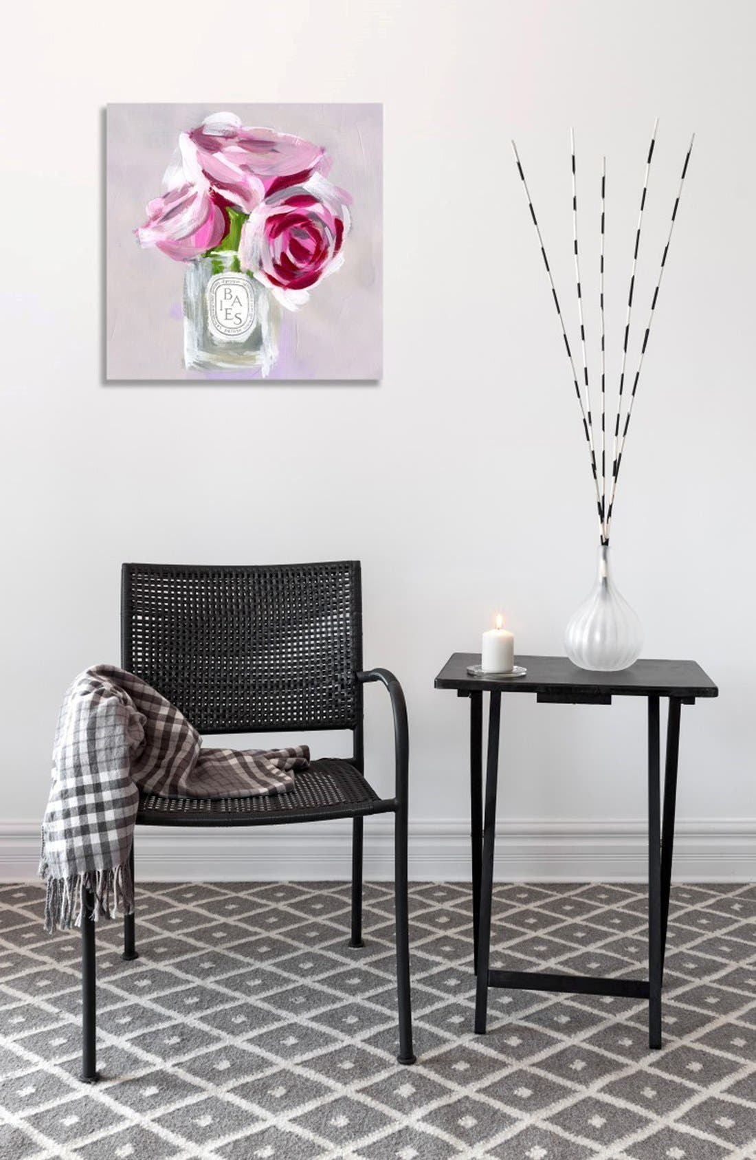 'Rose Candle' Canvas Wall Art,                             Alternate thumbnail 2, color,                             Grey