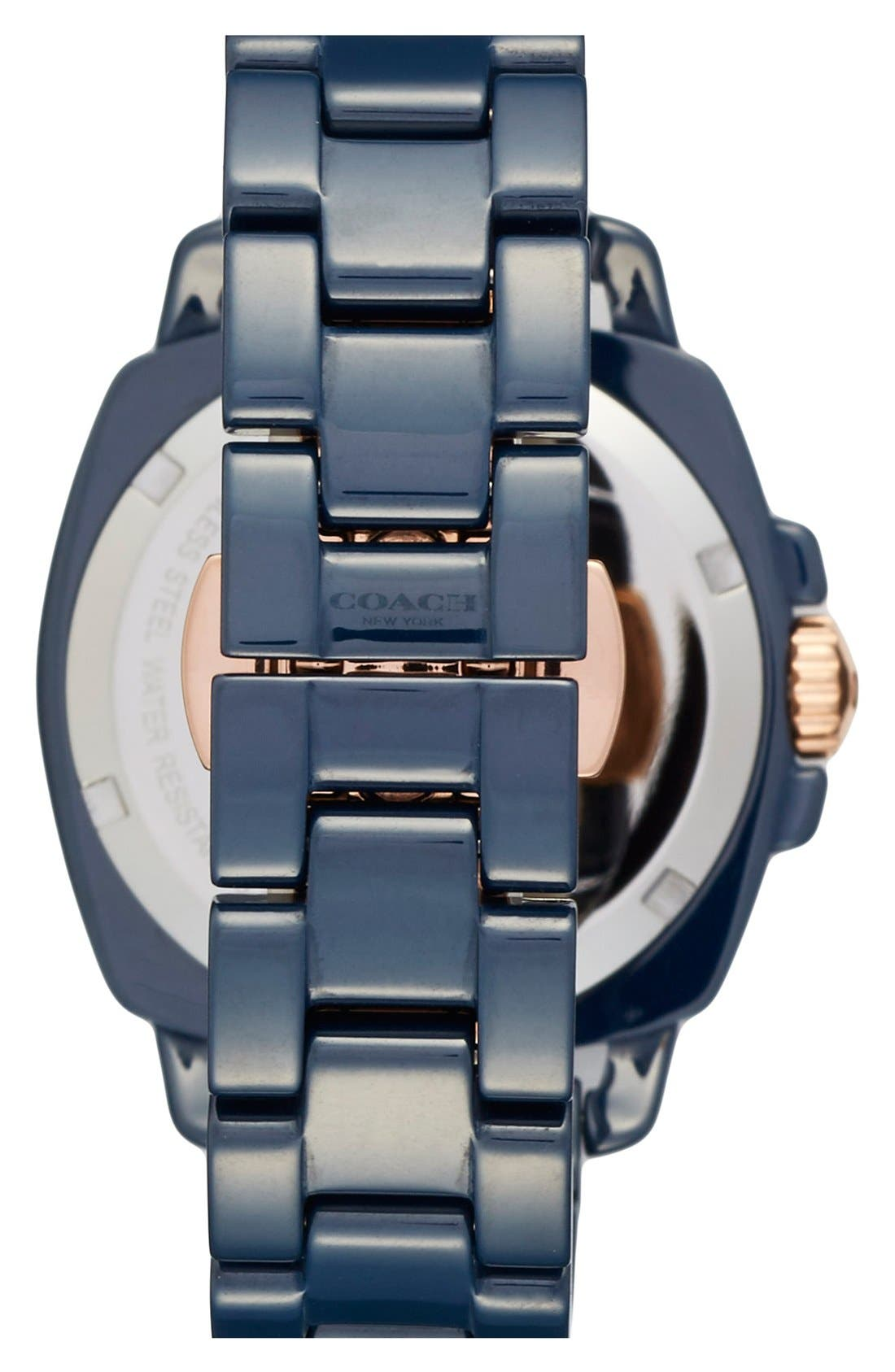 'Boyfriend' Ceramic Bracelet Watch, 34mm,                             Alternate thumbnail 2, color,                             Navy
