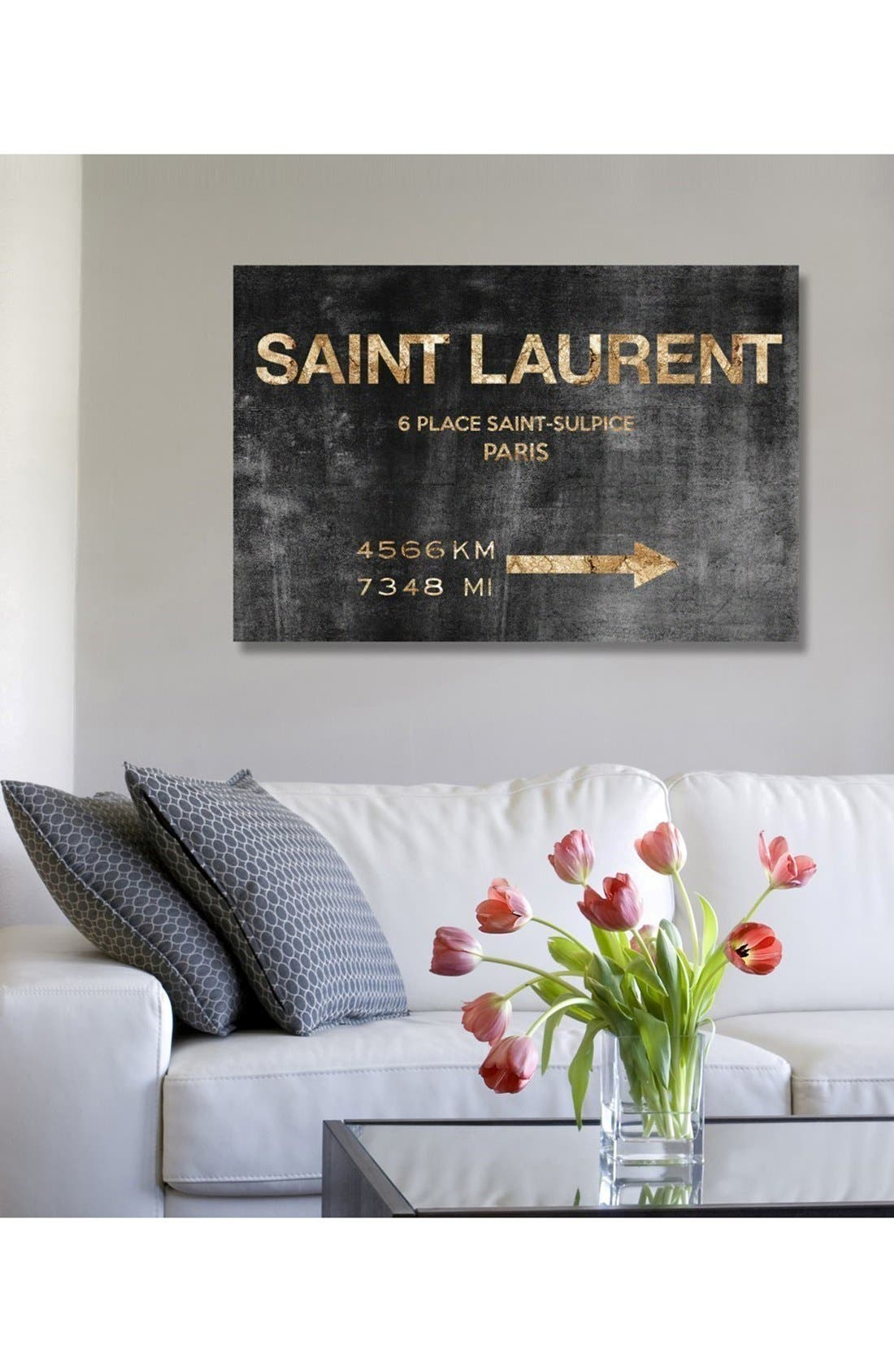 Alternate Image 2  - Oliver Gal 'Saint-Sulpice Road' Canvas Wall Art