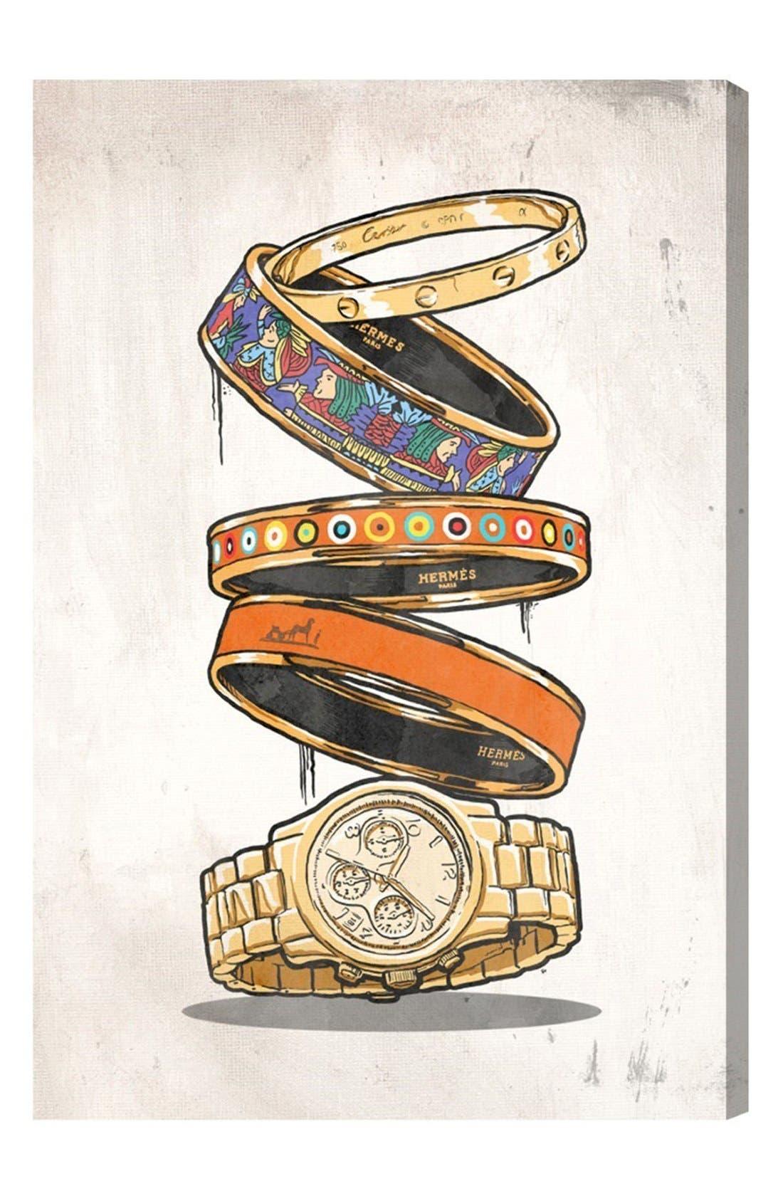 'Orange Arm Candy' Canvas Wall Art,                         Main,                         color, Beige