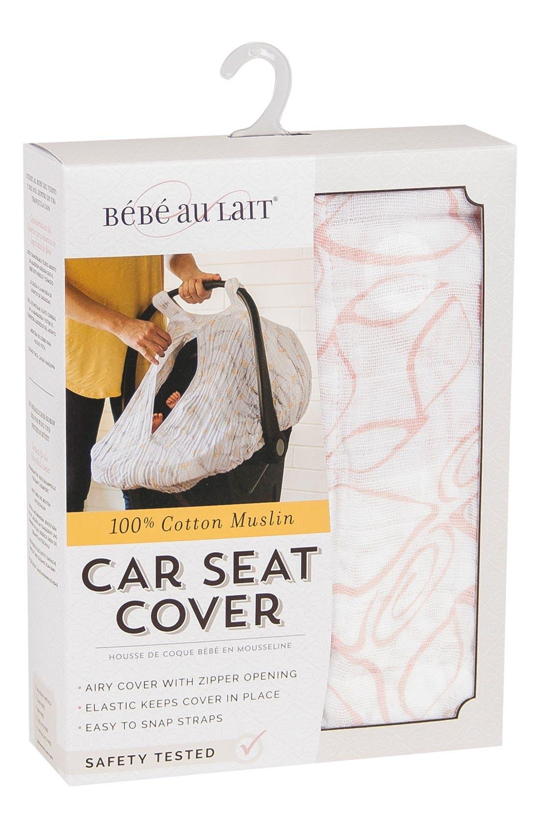 Alternate Image 4  - Bébé au Lait Muslin Car Seat Cover