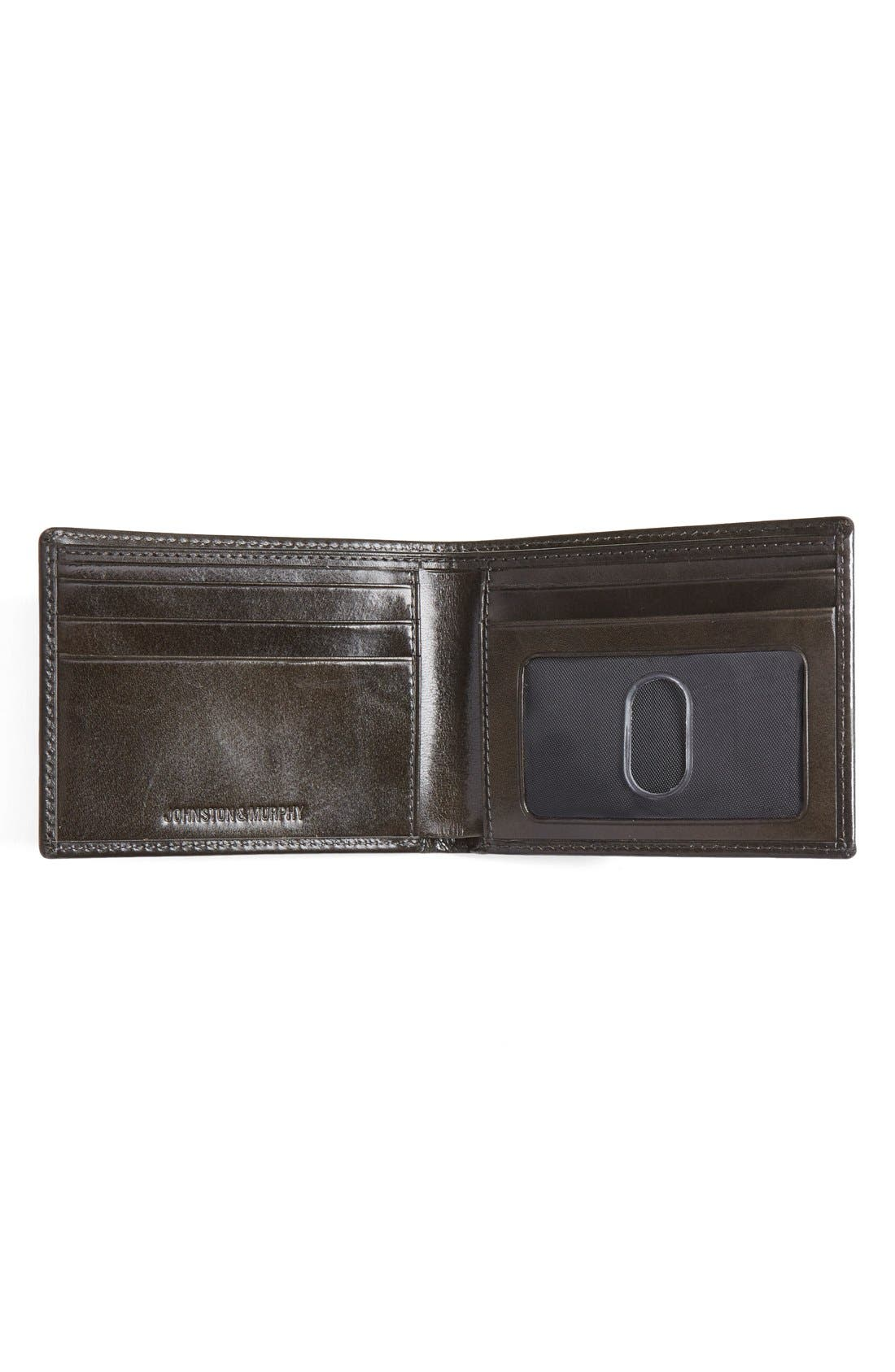Alternate Image 2  - Johnston & Murphy Slimfold Leather Wallet