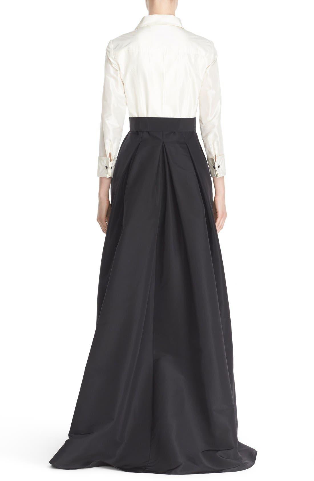 Alternate Image 2  - Carolina Herrera Silk Taffeta Trench Gown