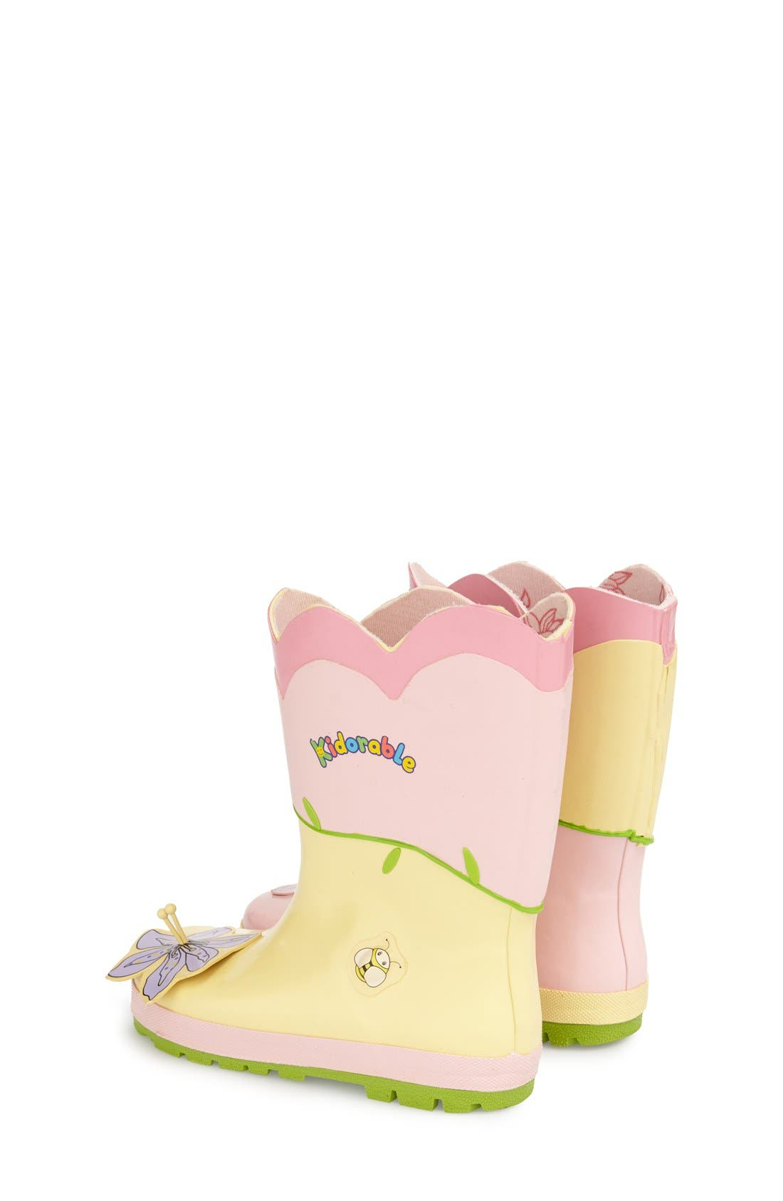 Alternate Image 2  - Kidorable 'Lotus' Waterproof Rain Boot (Walker, Toddler & Little Kid)