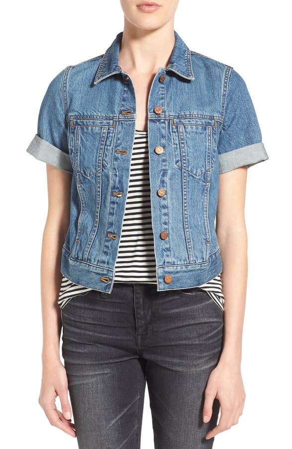 Madewell 'Summer' Short Sleeve Denim Jacket | Nordstrom