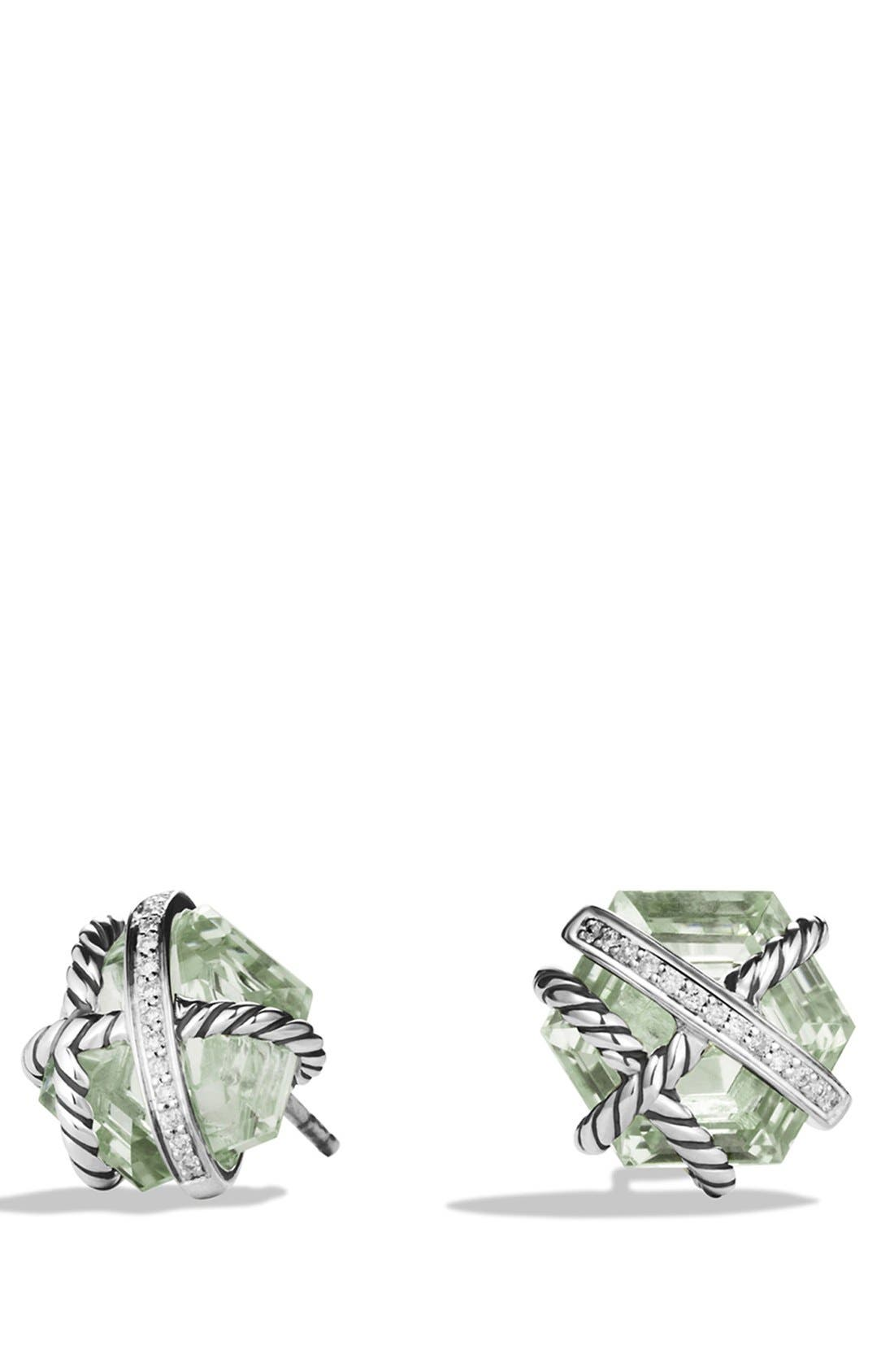 Main Image - David Yurman 'Cable Wrap' Earrings with Semiprecious Stones & Diamonds