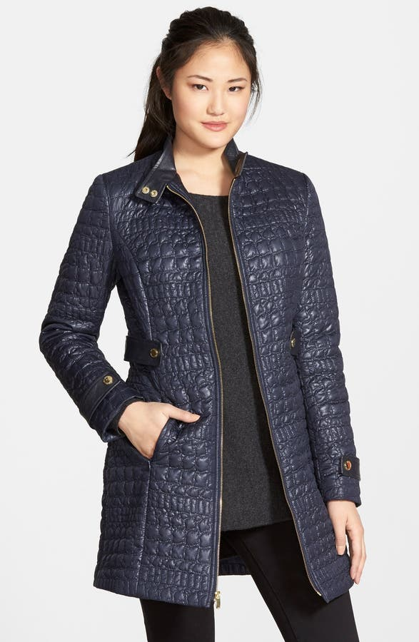 Via Spiga Faux Leather Trim Quilted Coat | Nordstrom : via spiga quilted coat - Adamdwight.com