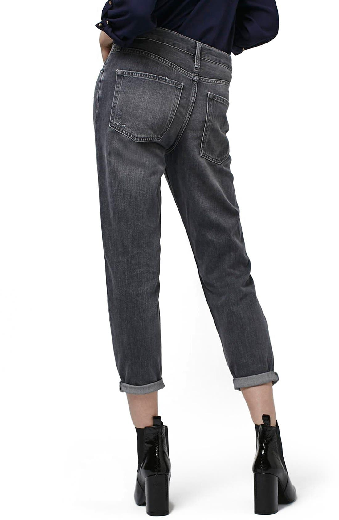 Alternate Image 3  - Topshop Moto 'Hayden' Ripped Boyfriend Jeans (Petite)