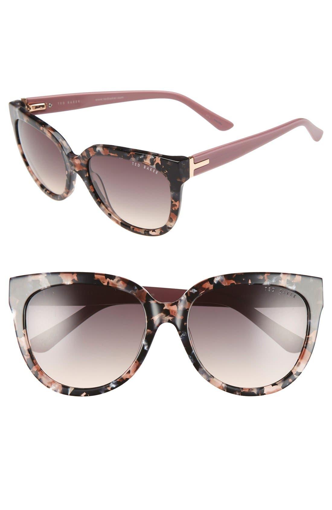 Main Image - Ted Baker London 55mm Cat Eye Sunglasses