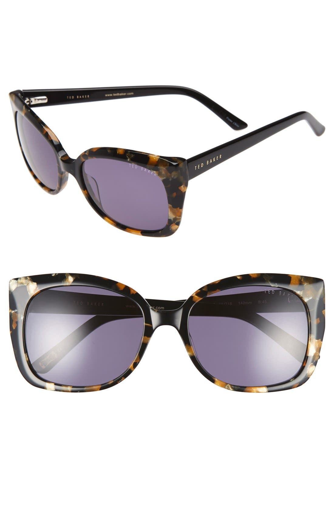 TED BAKER LONDON Hi Dimension 55mm Cat Eye Sunglasses
