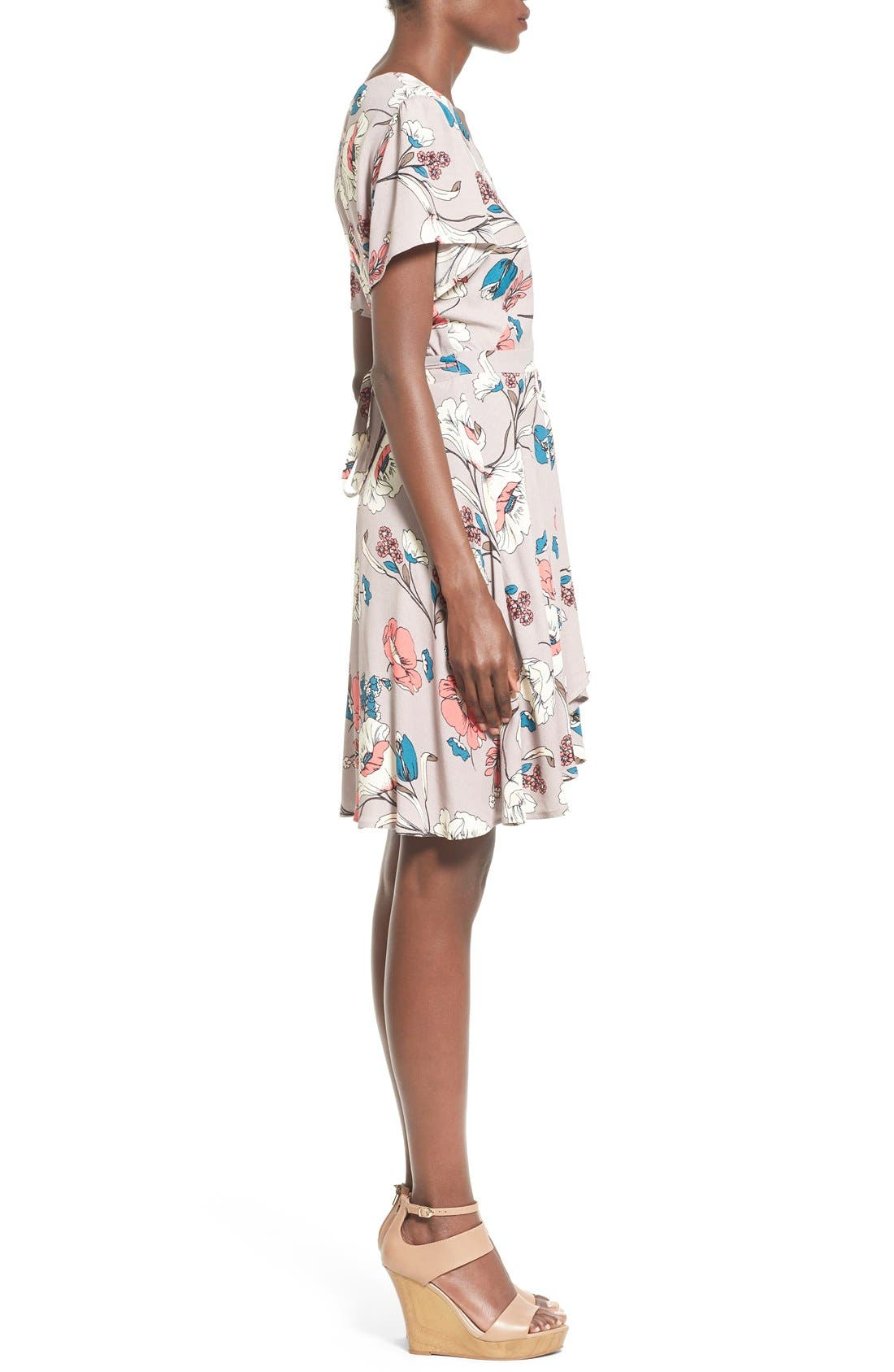 Alternate Image 3  - ASTR Floral Print Wrap Dress