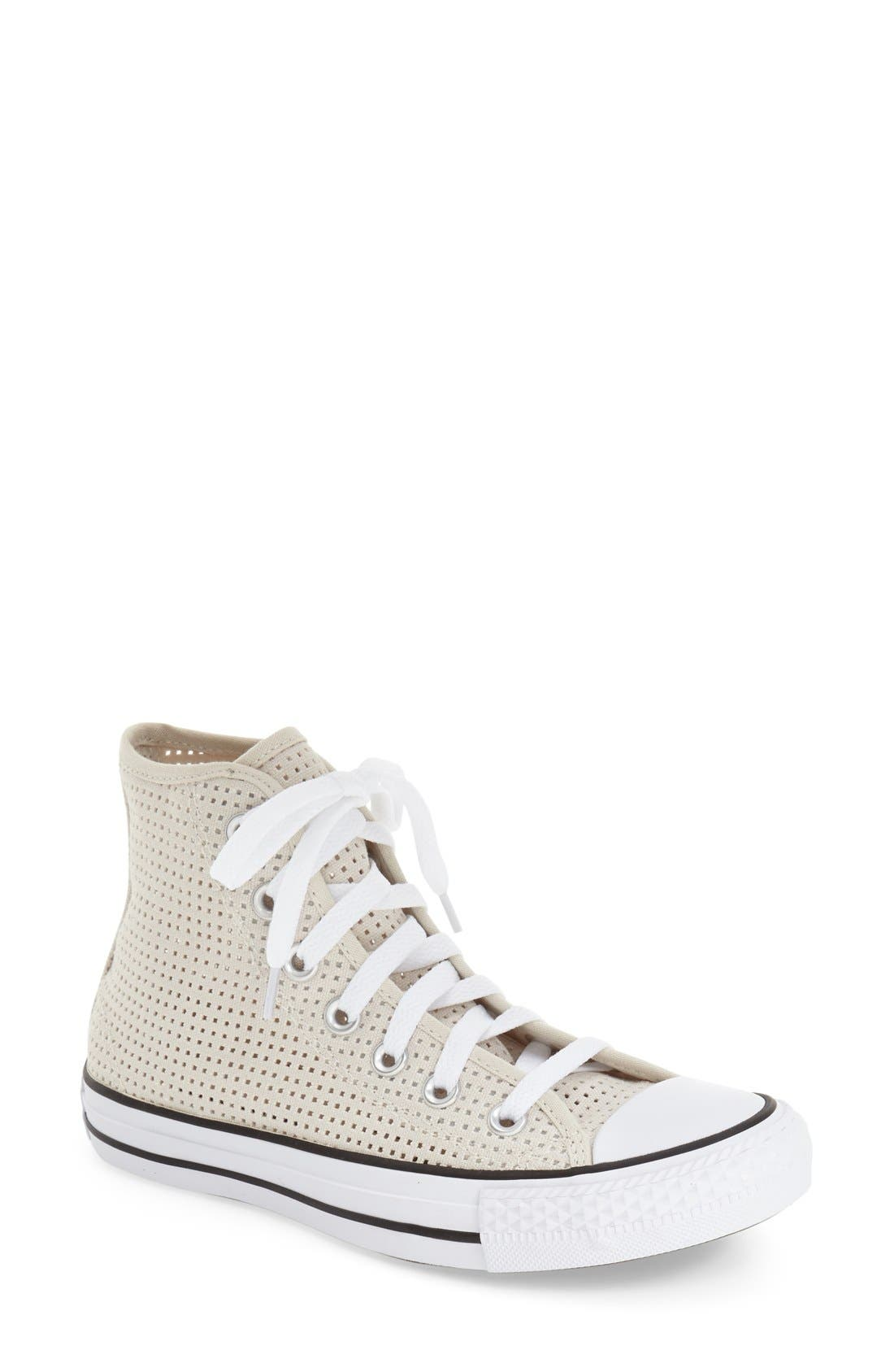 Main Image - Converse Chuck Taylor® All Star® Perforated Canvas High Top Sneaker (Women)