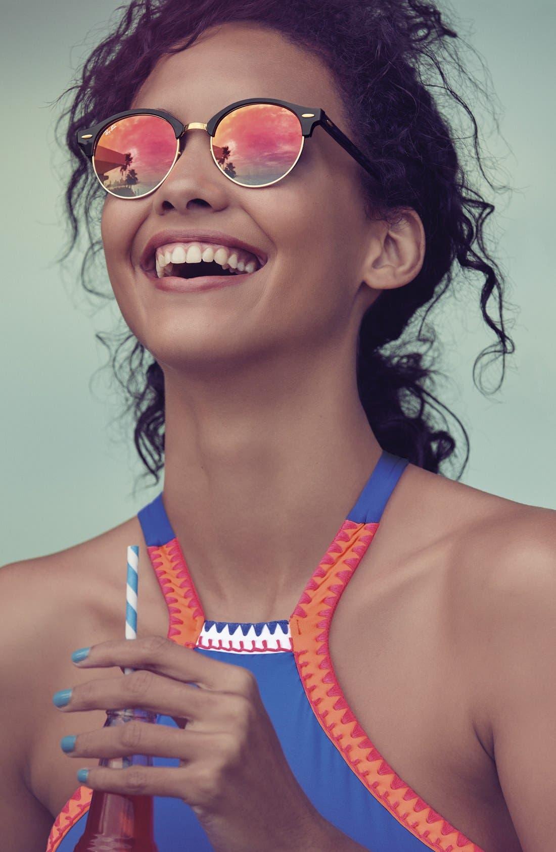 'Club' 51mm Sunglasses,                             Alternate thumbnail 2, color,