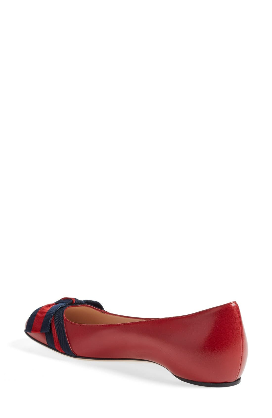 Alternate Image 2  - Gucci 'Aline' Bow Ballet Flat (Women)