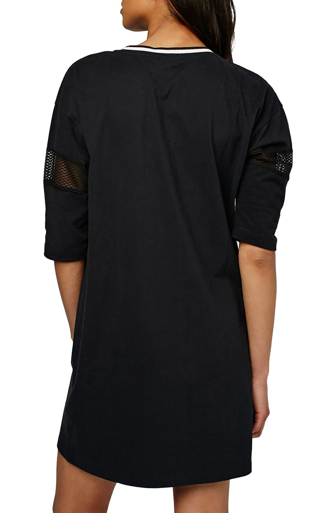 Alternate Image 2  - Topshop 'West Coast' Jersey T-Shirt Minidress