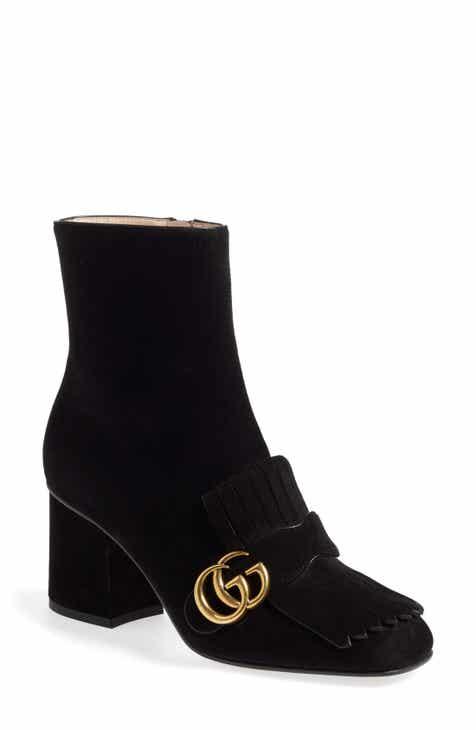 3786c9174b0 Gucci GG Marmont Fringe Bootie (Women)