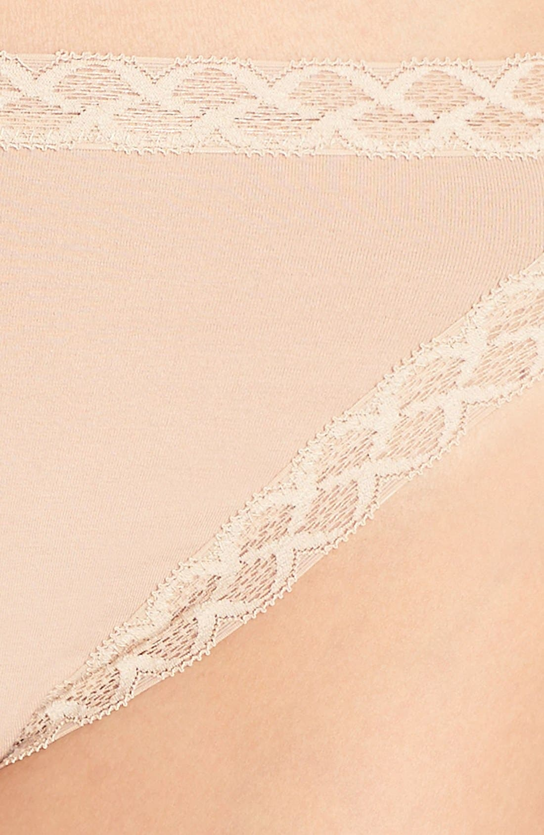 Bliss French Cut Briefs,                             Alternate thumbnail 4, color,                             Cafe