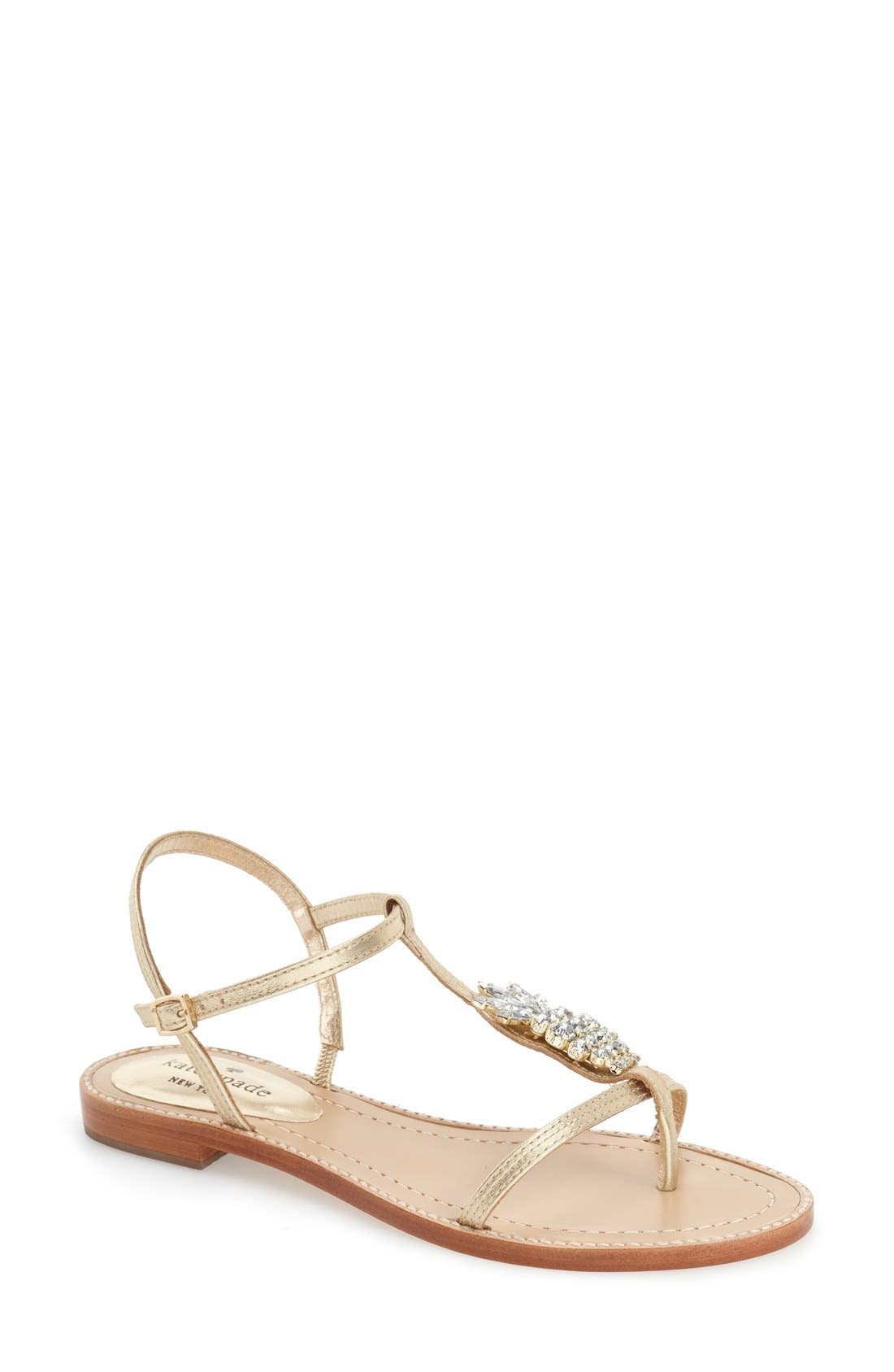 Main Image - kate spade new york 'serafina' crystal pineapple flat sandal (Women)