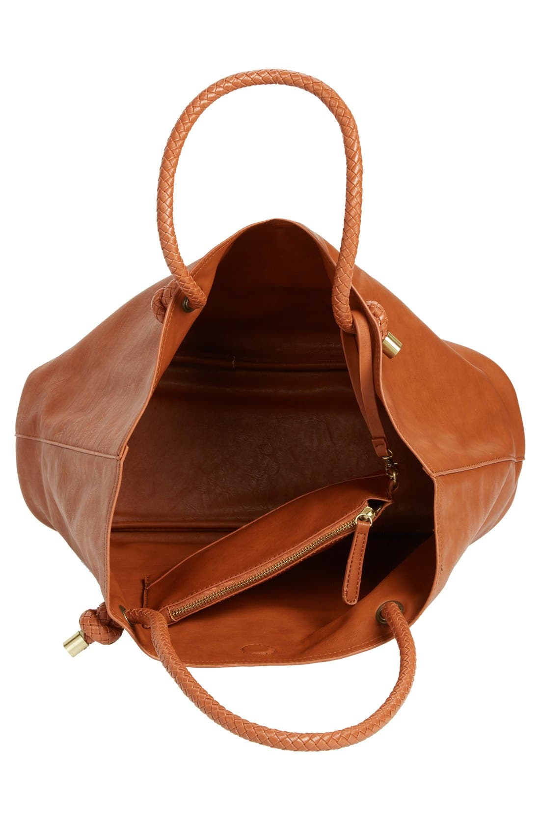 Alternate Image 4  - Sole Society Braided Handle Faux Leather Tote
