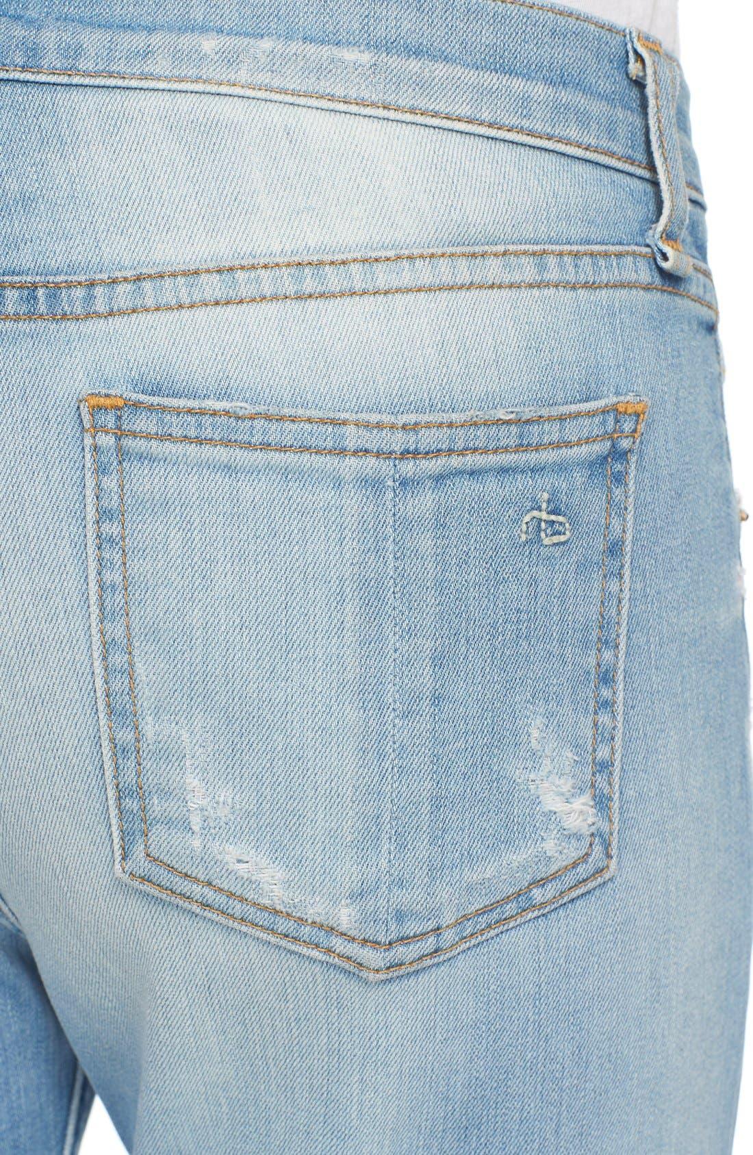 Alternate Image 4  - rag & bone/JEAN 'Beach' High Rise Bell Bottom Jeans (Ryder)