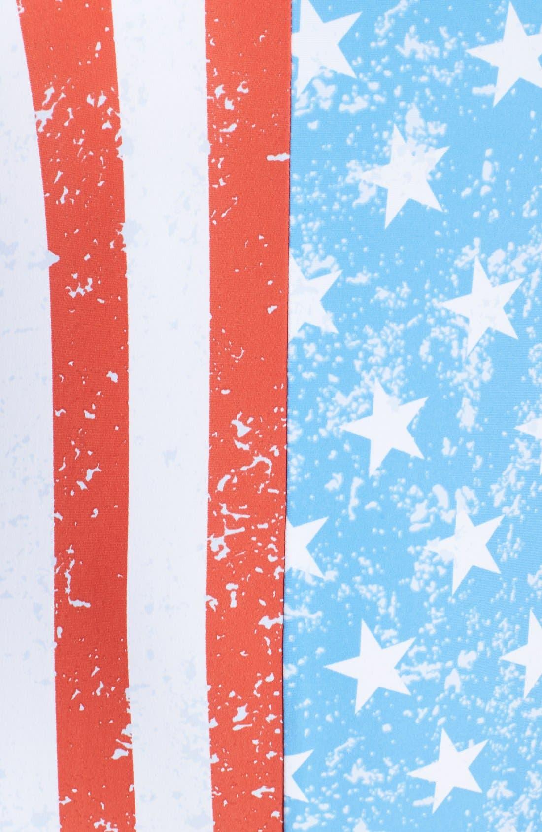 'American Flag - Stars & Stripes' One-Piece Swimsuit,                             Alternate thumbnail 5, color,                             Blue Multi