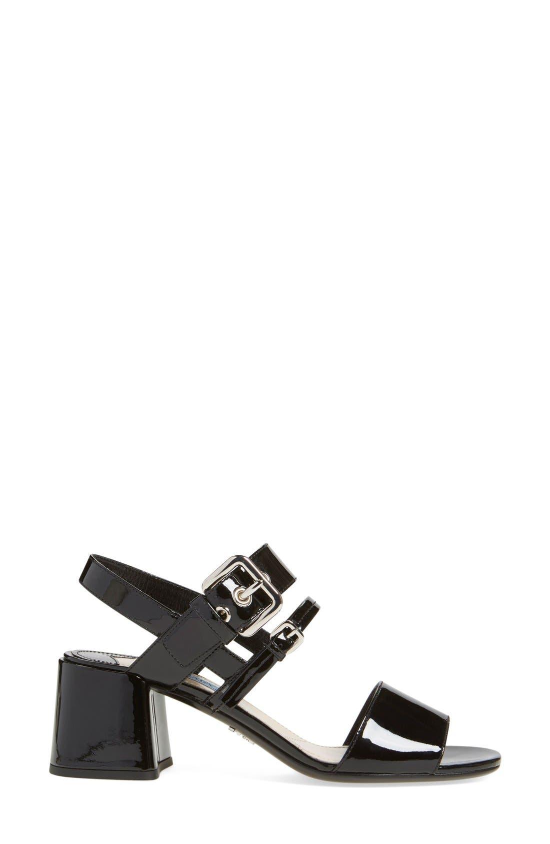 Alternate Image 4  - Prada Block Heel Sandal (Women)