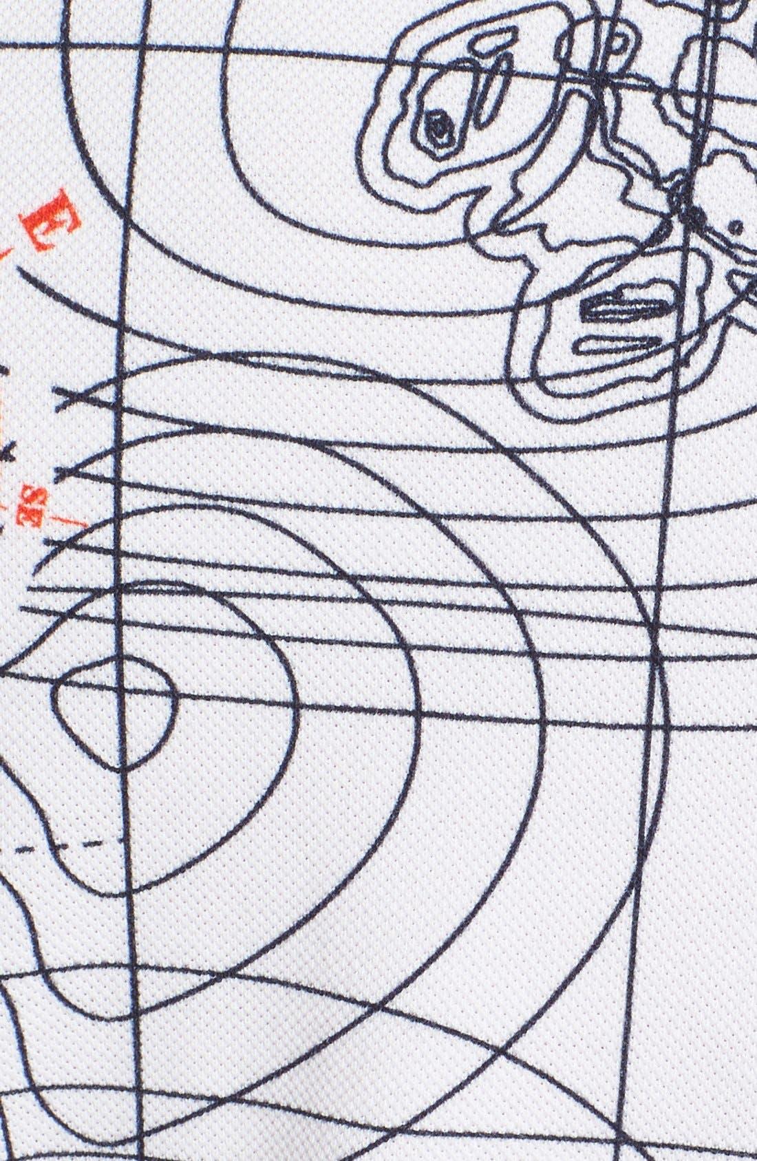 'Sonar' Piqué Cotton Polo,                             Alternate thumbnail 5, color,                             White