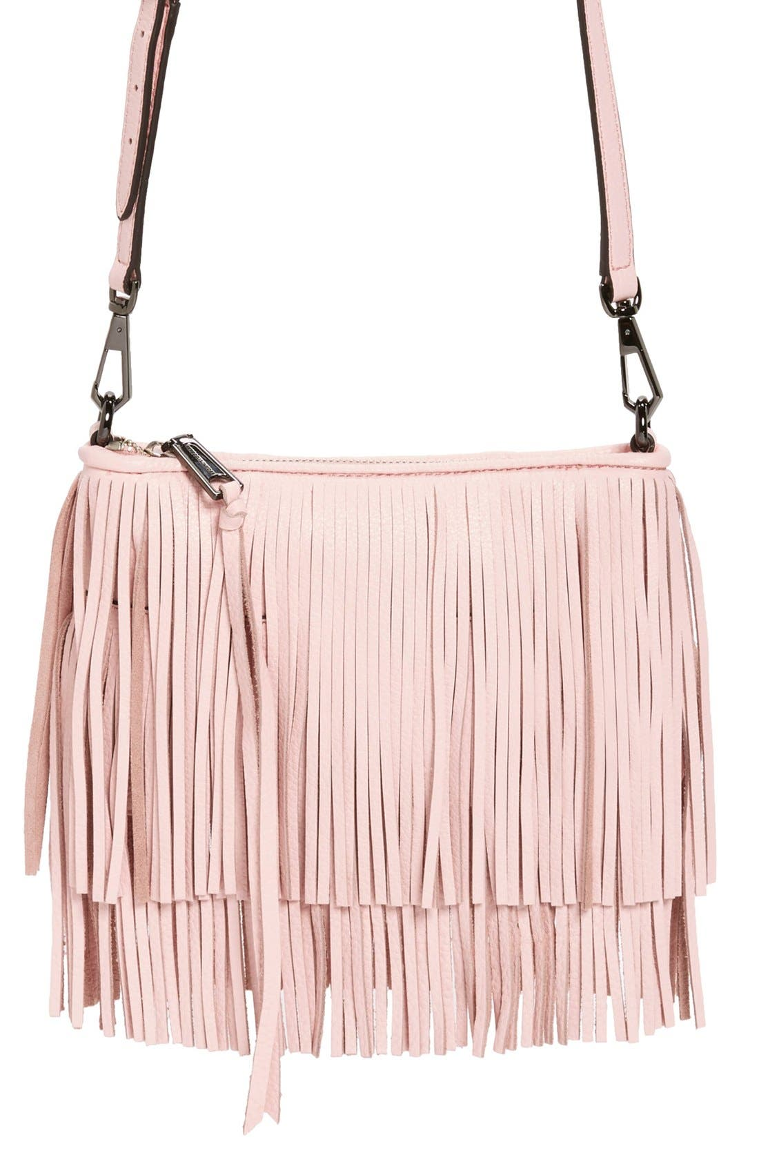 Main Image - Rebecca Minkoff 'Finn' Convertible Leather Clutch