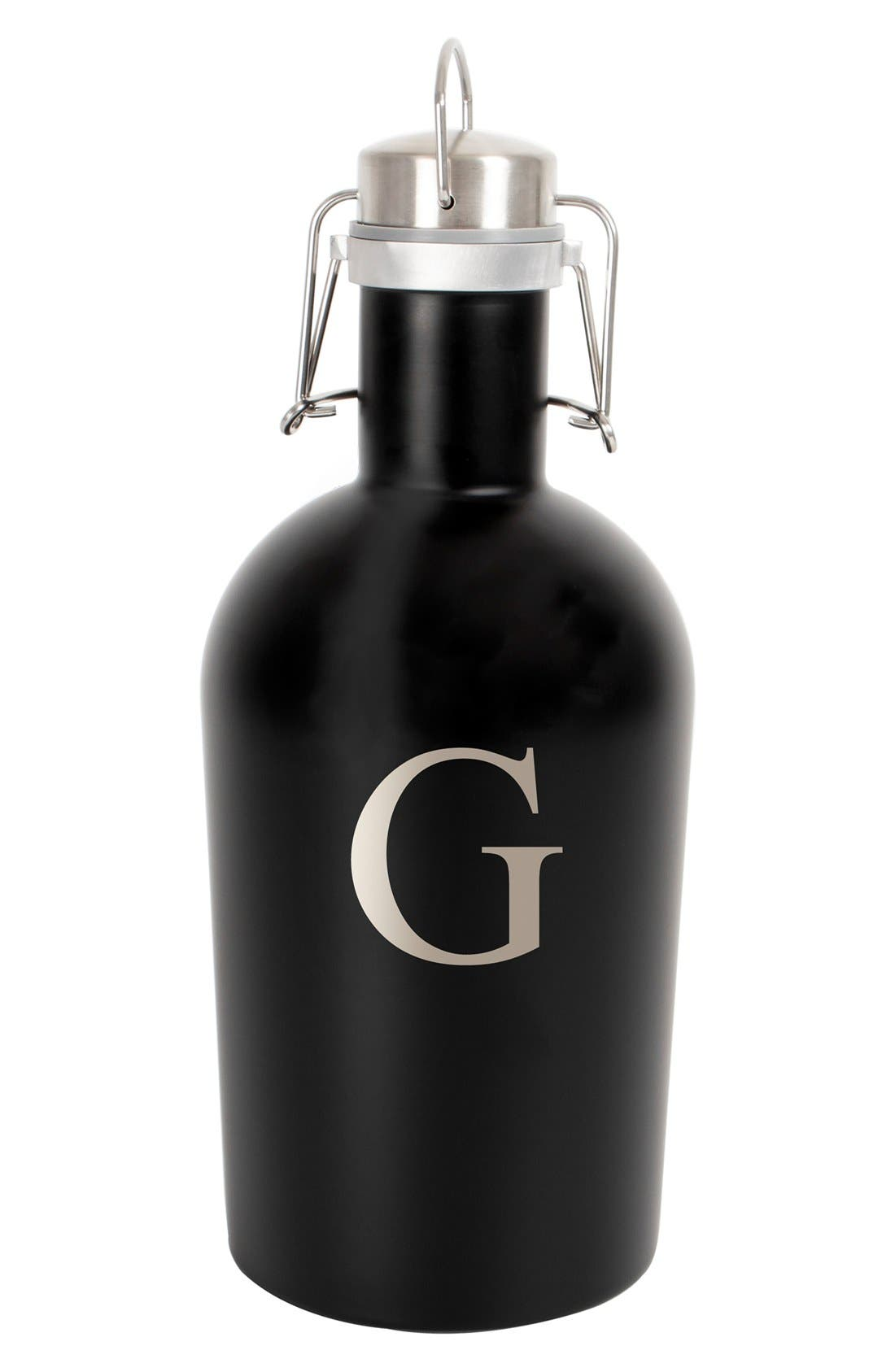 Alternate Image 1 Selected - Cathy's Concepts Monogram Stainless Steel Growler