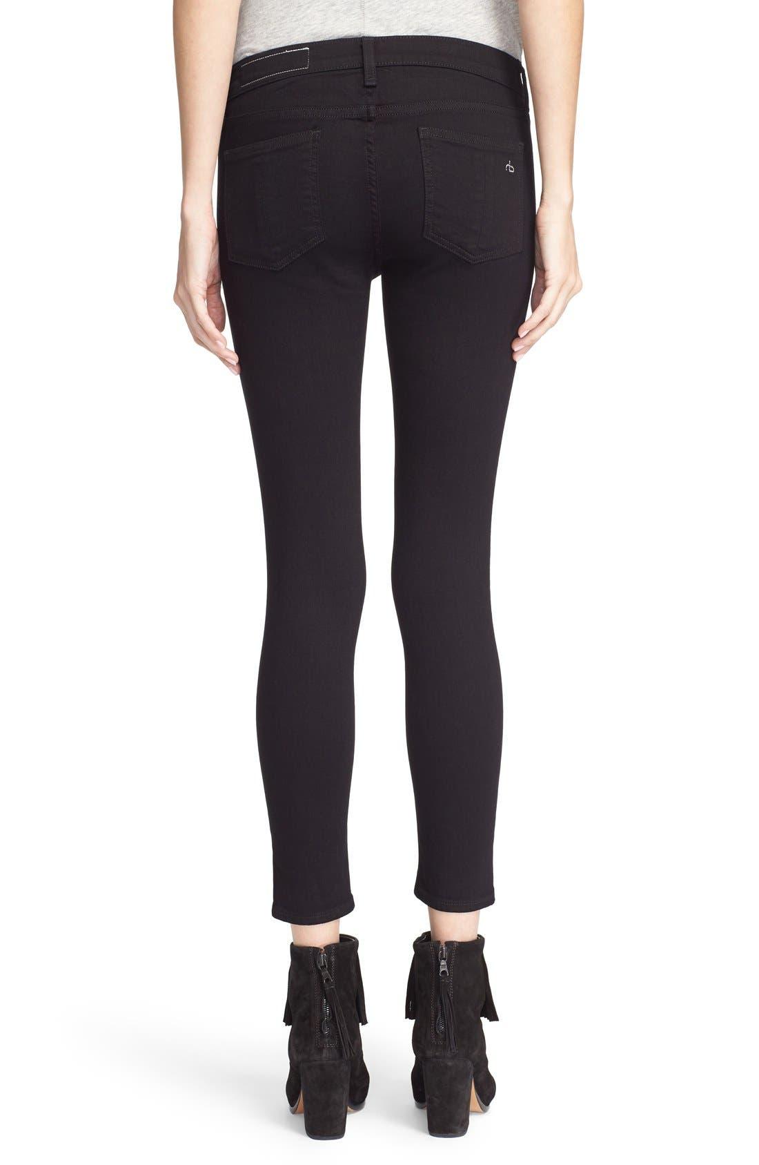 Alternate Image 2  - rag & bone/JEAN Capri Skinny Jeans