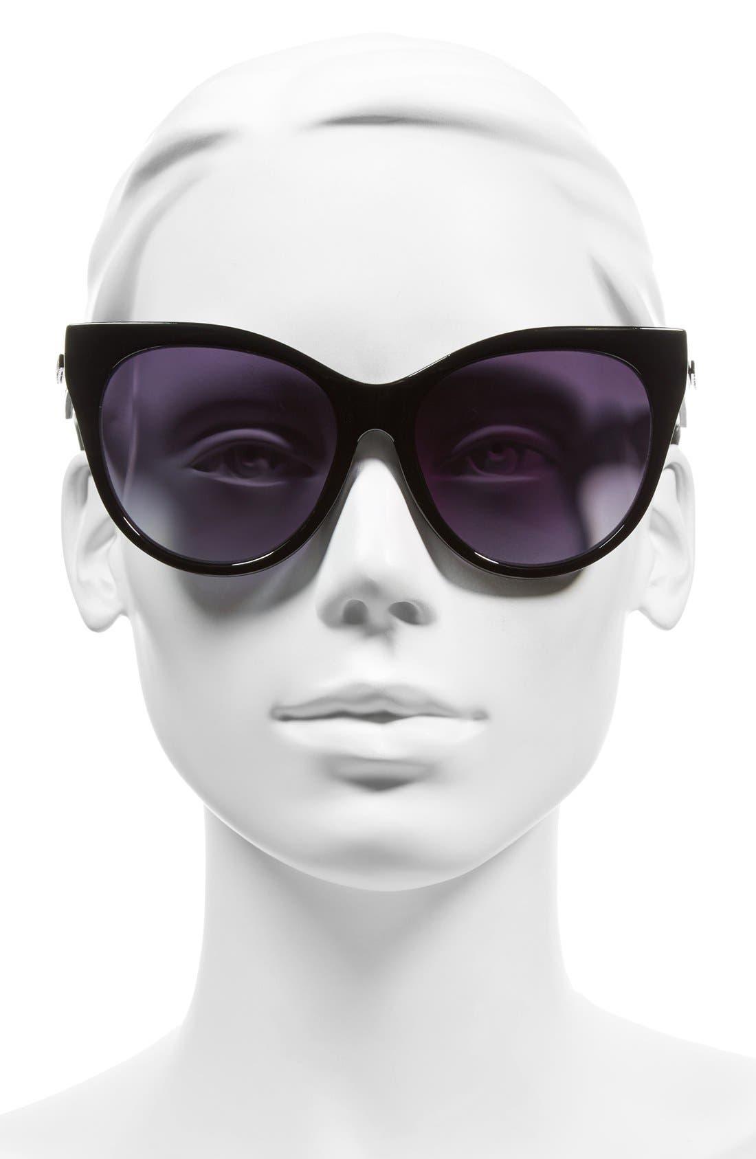 Alternate Image 2  - Steve Madden 58mm Oversized Cat Eye Sunglasses