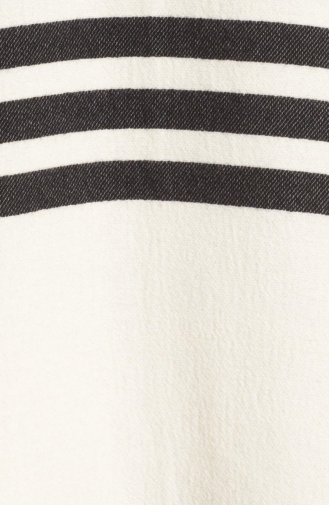 Alternate Image 5  - rag & bone 'Ines' Stripe Wool Blend Poncho