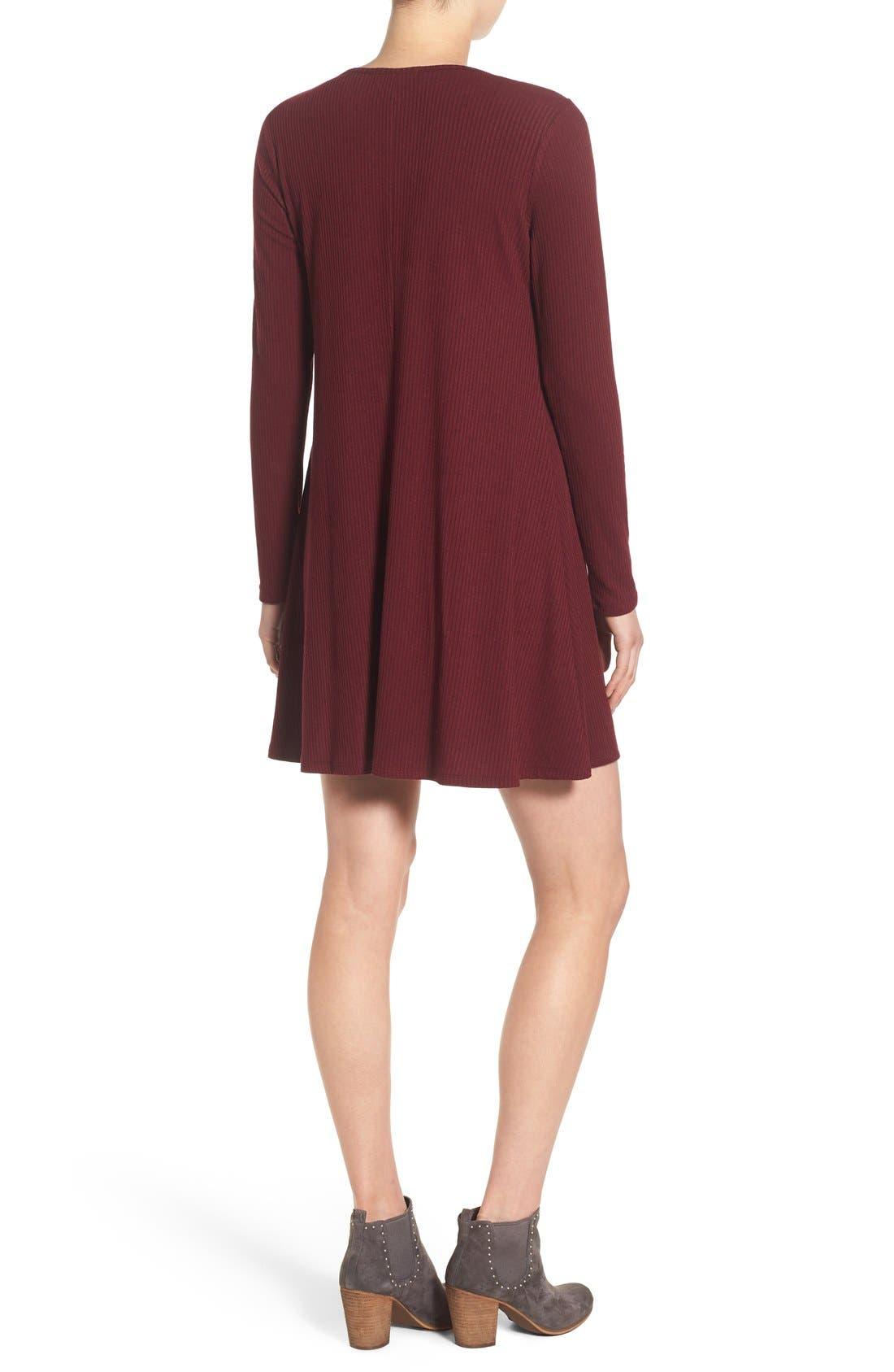 Alternate Image 2  - Love, Fire Long Sleeve Rib Knit Dress