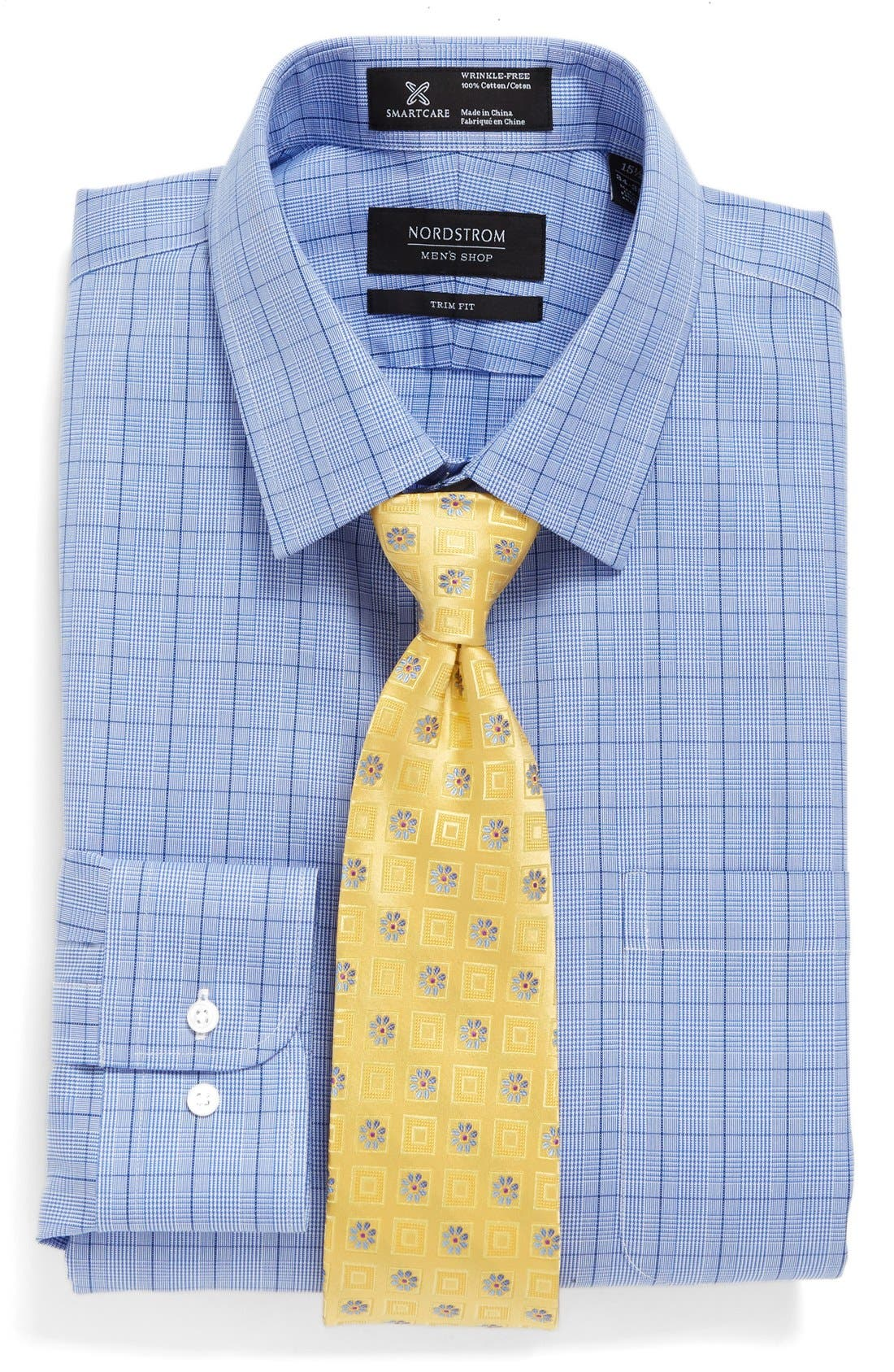 Alternate Image 3  - Nordstrom Men's Shop Smartcare™ Trim Fit Plaid Dress Shirt
