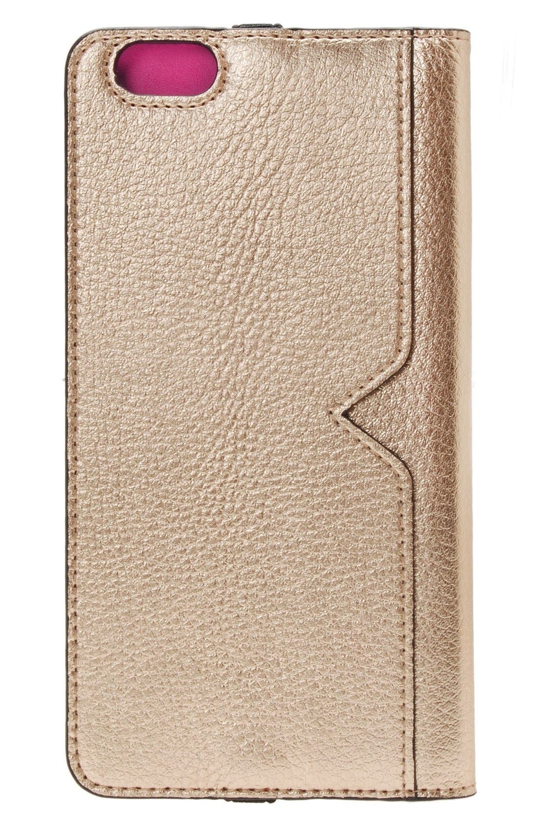 Alternate Image 2  - Mobileluxe iPhone 6 Plus/6s Plus Metallic Leather Wallet Case