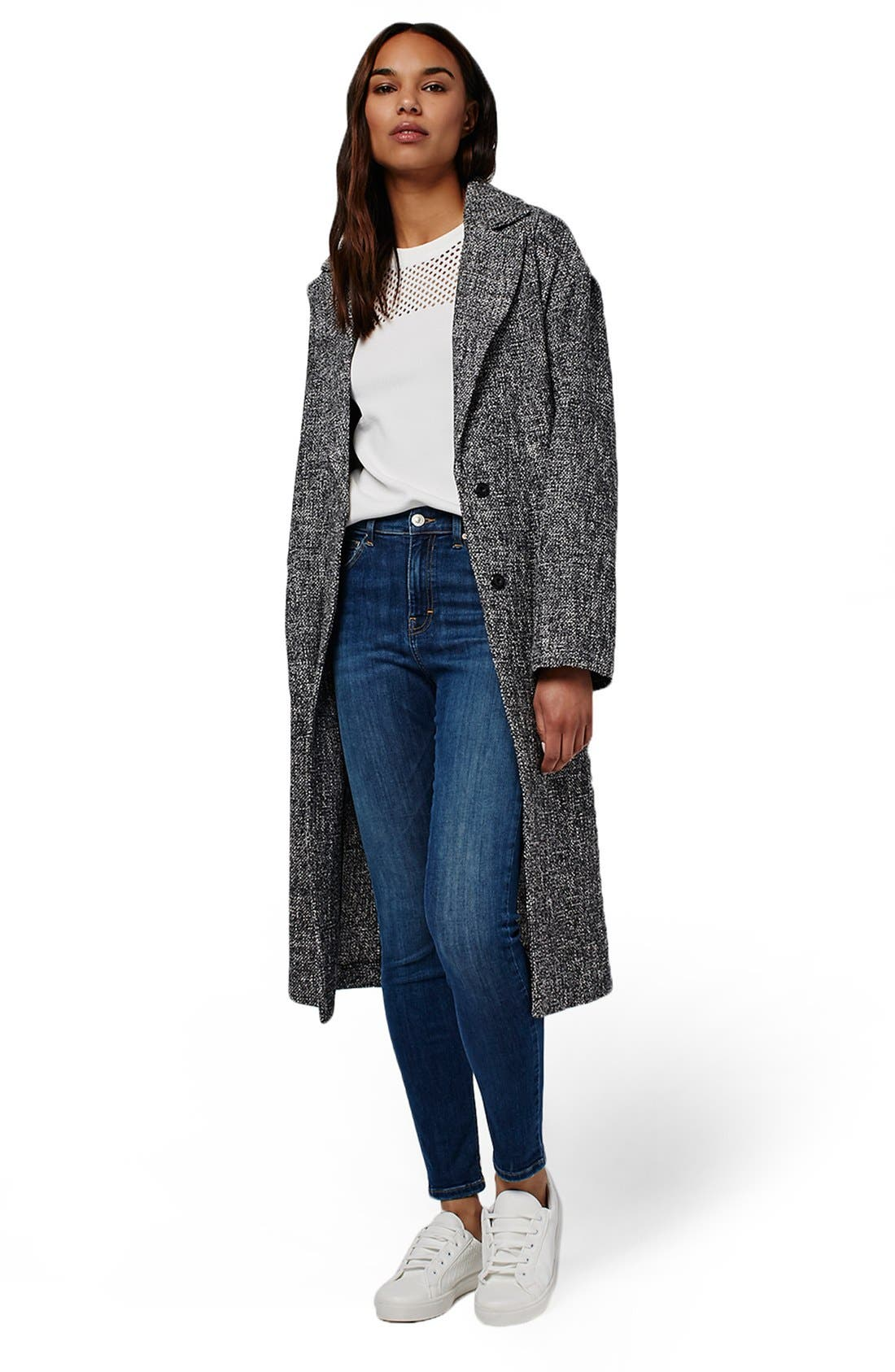 Alternate Image 2  - Topshop Textured Slouchy Coat