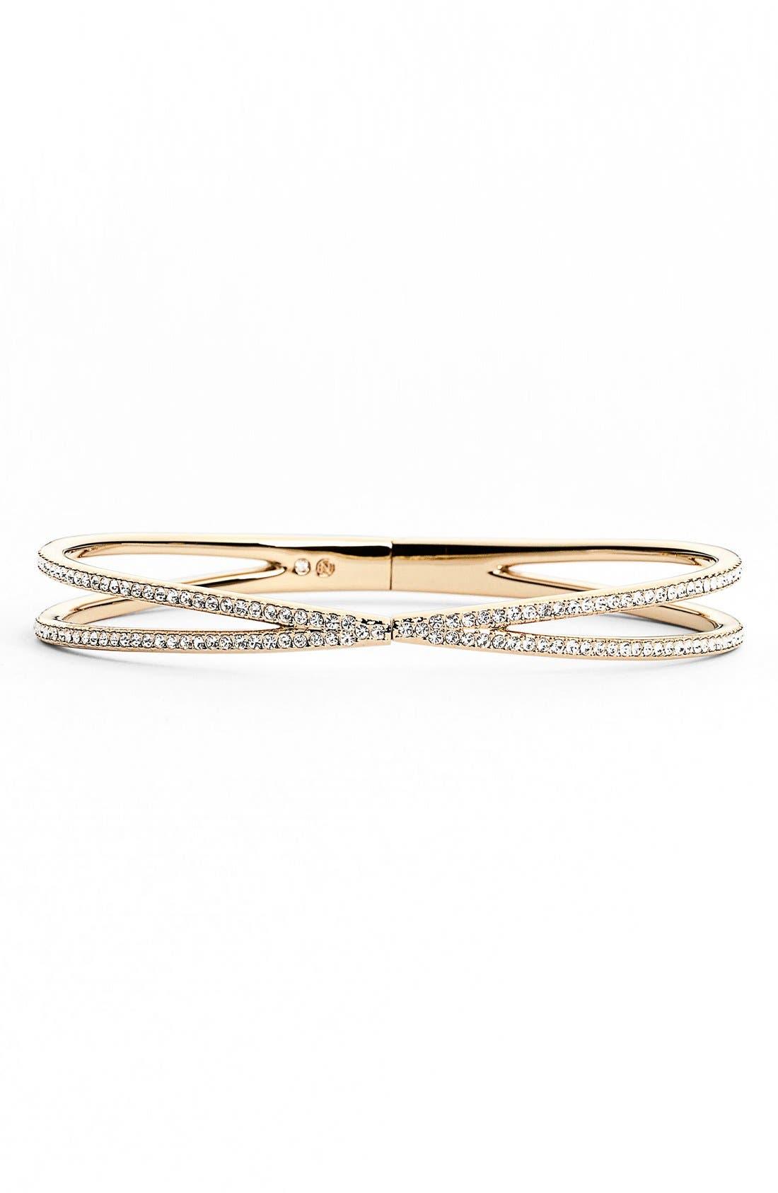 Alternate Image 1 Selected - Nadri Pavé Hinged Crossover Bracelet (Nordstrom Exclusive)