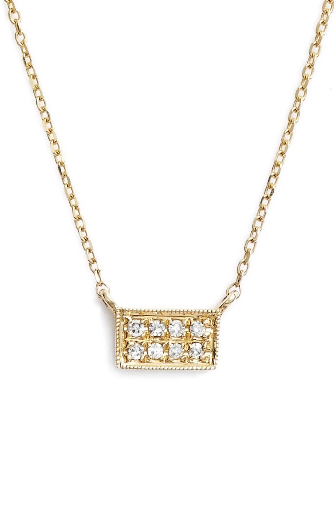 DANA REBECCA DESIGNS Katie Diamond Bar Pendant Necklace