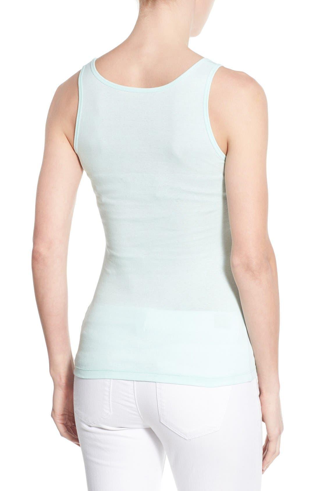 Alternate Image 2  - Caslon® Knit Cotton Tank