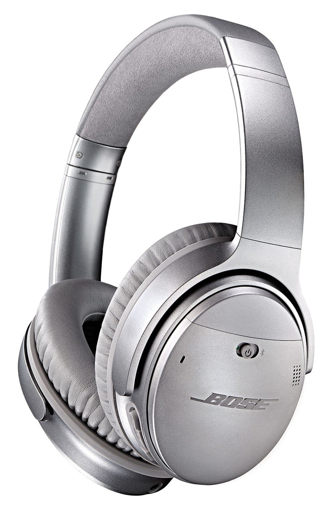 QuietComfort<sup>®</sup> 35 Acoustic Noise Cancelling<sup>®</sup> Bluetooth<sup>®</sup> Headphones,                             Alternate thumbnail 2, color,                             Silver