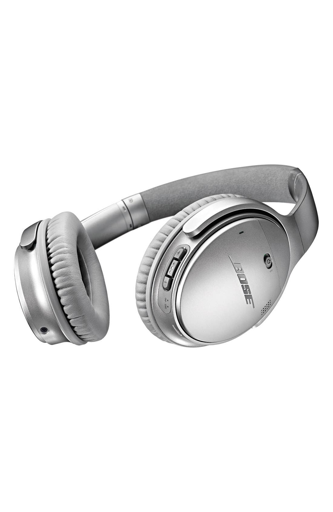 QuietComfort<sup>®</sup> 35 Acoustic Noise Cancelling<sup>®</sup> Bluetooth<sup>®</sup> Headphones,                             Alternate thumbnail 6, color,                             Silver