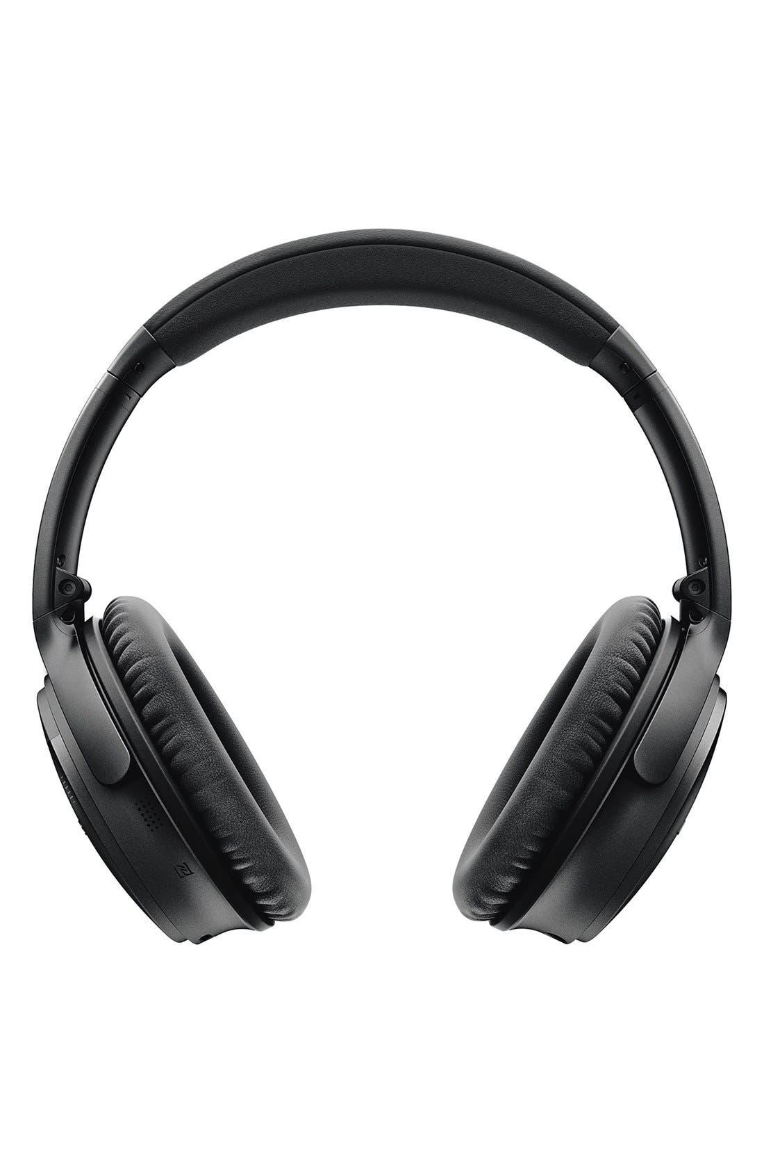 QuietComfort<sup>®</sup> 35 Acoustic Noise Cancelling<sup>®</sup> Bluetooth<sup>®</sup> Headphones,                             Alternate thumbnail 4, color,                             Black