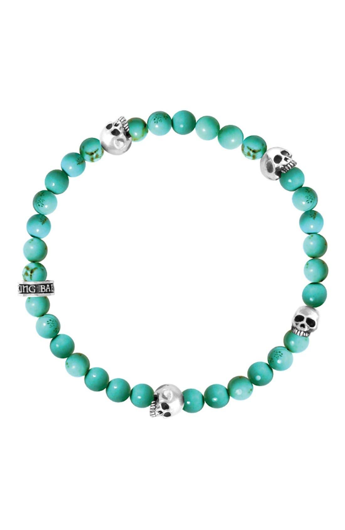 Turquoise Bead Bracelet,                             Main thumbnail 1, color,                             Turquoise