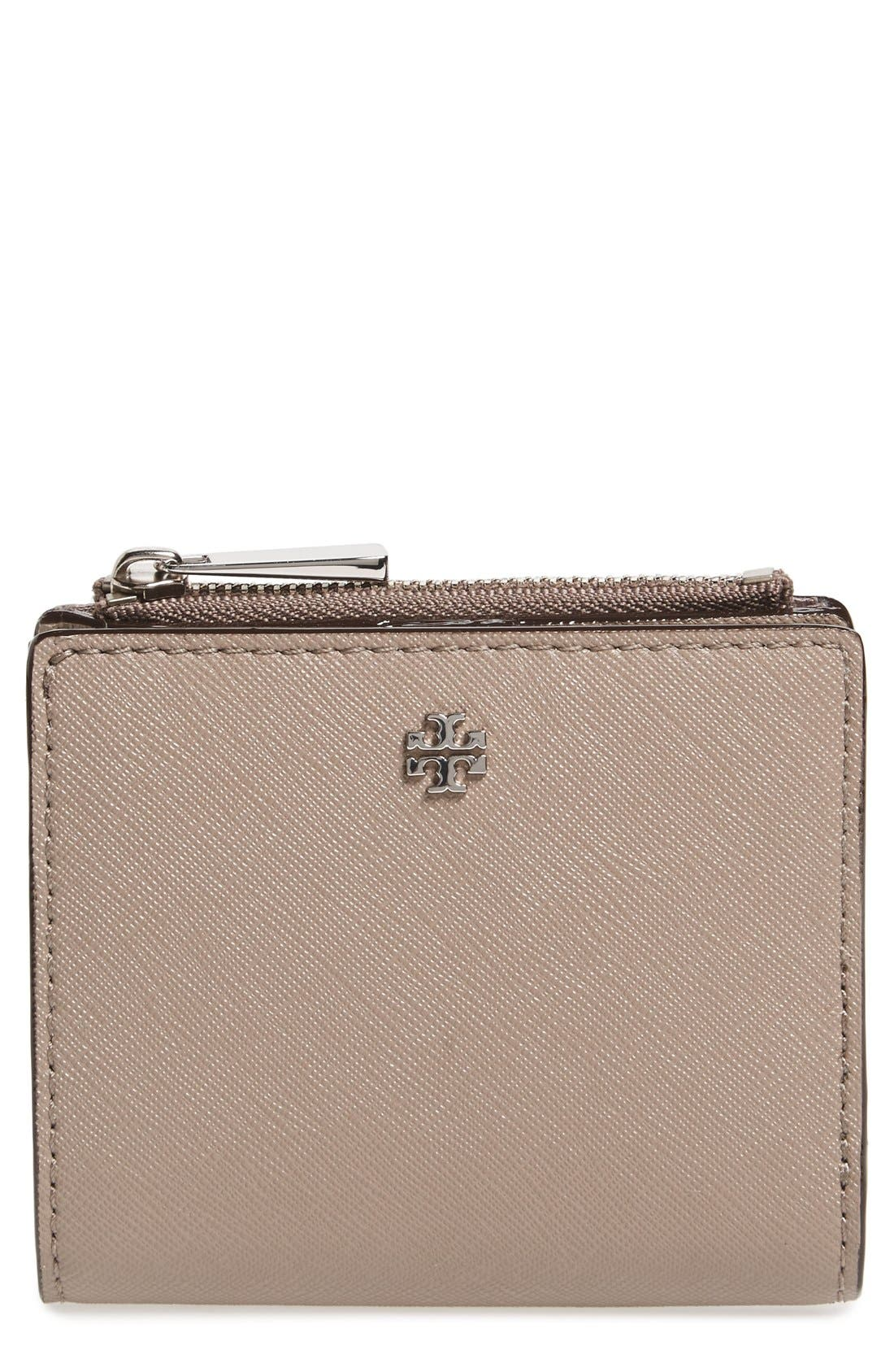 Alternate Image 1 Selected - Tory Burch 'Mini Robinson' Leather Wallet